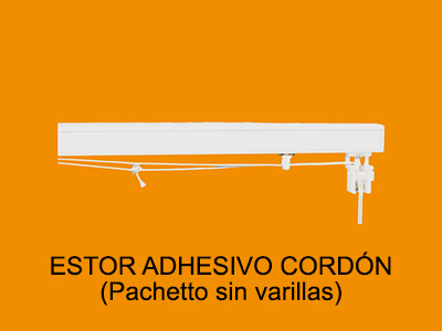 estor adhesivo cordón Pachetto sin varillas