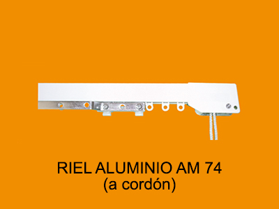 riel aluminio AM74 a cordon