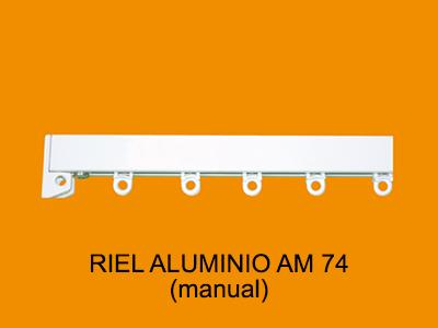 riel aluminio AM74 manual